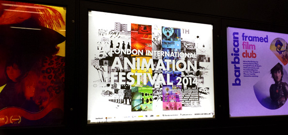 LIAF, 2014, poster, London International Animation Festival, Barbican