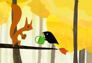 The Little Bird and the Squirrel, Lena von Dohren, LIAF, London International Animation Festival