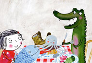 Rita and Crocodile - Fishing, Siri Melchoir, LIAF, London International Animation Festival