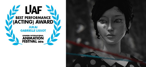 LIAF, London International Animation Festival, Best Performance (Acting) Award, Jukai, Gabrielle Lissot